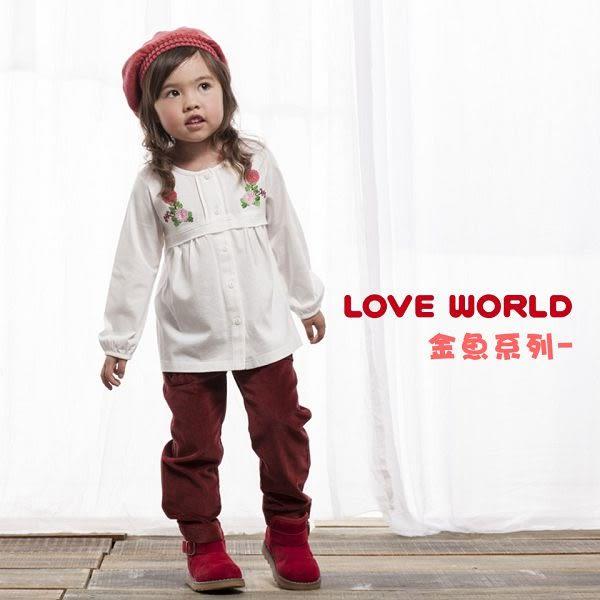 【愛的世界】鬆緊帶休閒長褲/2~4歲-台灣製- ★秋冬下著