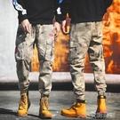 戰術褲男沙漠迷彩褲男傘兵褲特種兵戶外戰術軍褲寬鬆休閒潮牌束腳工裝褲子 快速出貨