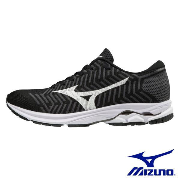 MIZUNO WAVEKNIT R1 慢跑鞋 黑X白 J1GD182402 女鞋