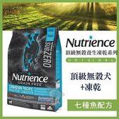 *WANG*美國Nutrience紐崔斯《SUBZERO頂級無榖犬+凍乾-七種魚》5公斤
