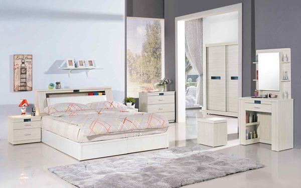 【森可家居】夏緹絲6尺床頭箱 7JX33-3 雙人 收納功能 木紋質感