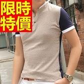 POLO衫短袖男裝上衣-經典別緻必敗優質純棉質2色57p25【巴黎精品】