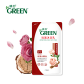 綠的抗菌沐浴乳玫瑰木精油-補充包700ml
