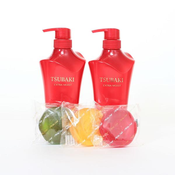 日本SHISEIDO 資生堂 TSUBAKI沐浴禮盒(洗髮精x2+精油皂x3)