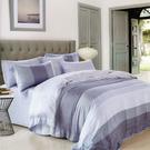 【Jenny Silk名床】麻趣部落.藍色.100%天絲.特大雙人鋪棉床包被套組