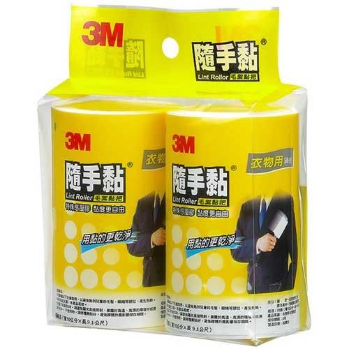 3M 隨手黏 衣物用 毛絮黏把 補充包 56張X2捲