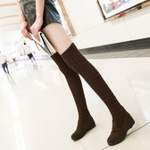 過膝靴高筒靴新款秋冬彈力靴女士兩穿瘦瘦靴時尚長款單靴子潮 亞斯藍