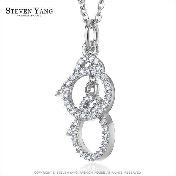 項鍊STEVEN YANG正白K飾「緊銬甜蜜」銀色款 手銬造型*單個價格*情人送禮