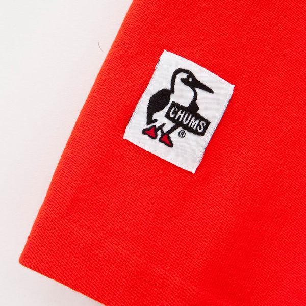 CHUMS 日本 男 Tech 吸濕快排 LOGO短袖T恤 藍/黃 CH011112A001