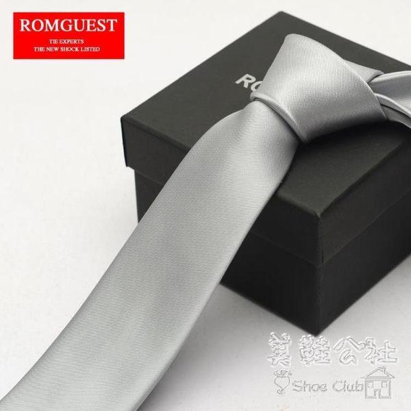 男士休閒商務 6Cm韓式窄版銀色領帶Sq3537 『美鞋公社』