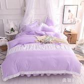 床包組少女心蕾絲純棉床單被套公主風床裙床罩床上四件套女zzy5432『美鞋公社』