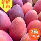 預購-坊山無毒在欉紅.愛文芒果10斤x2箱(大顆,15顆/箱)(免運宅配)