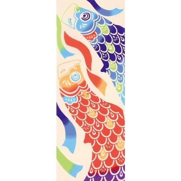 【日本製】【和布華】 日本製 注染拭手巾 搖曳鯉魚旗圖案(一組:3個) SD-5031-3 - 和布華