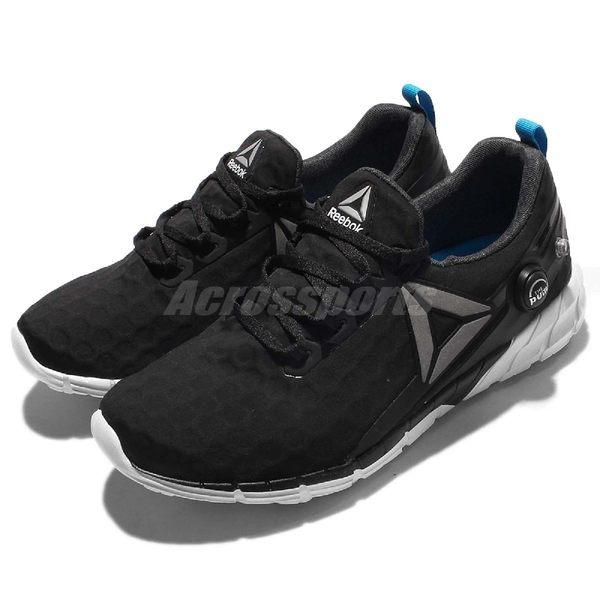 Reebok 慢跑鞋 Zpump Fusion 2.5 WP 黑 白 充氣設計 夜間反光 休閒鞋 女鞋【PUMP306】 AR2819