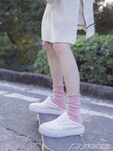 襪子堆堆襪女夏秋薄款韓國純棉中筒襪日繫花邊長襪滑板運動襪學生襪子  潮流前線