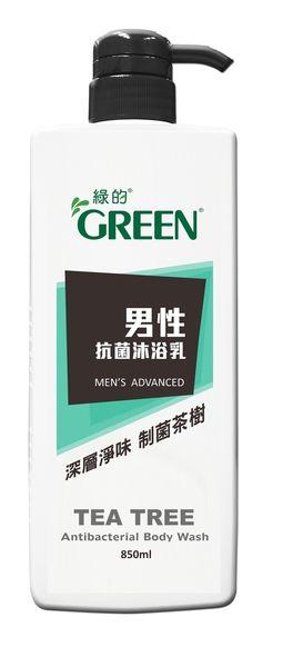 【綠的 GREEN】男性抗菌沐浴乳  茶樹 850ml