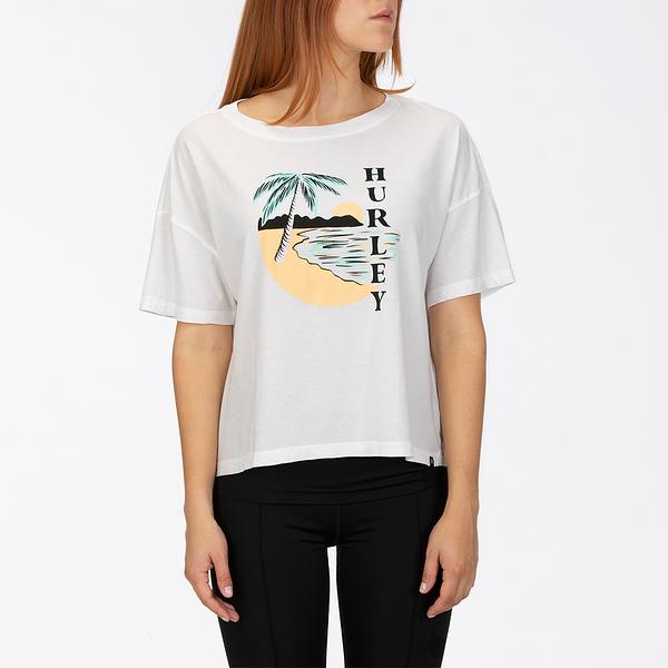 Hurley W HRLY PAIA CIRCLE FLOUNCY TEE WHITE T恤-(白)