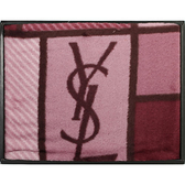 YSL經典LOGO色塊雪綿毛毯禮盒(紫紅)989208-51