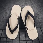 拖鞋男夏人字拖時尚外穿新款夾腳個性潮流布帶男士涼鞋沙灘鞋「艾瑞斯居家生活」