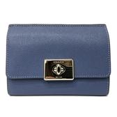 【COACH】經典璇釦零錢袋中夾(羅藍紫)
