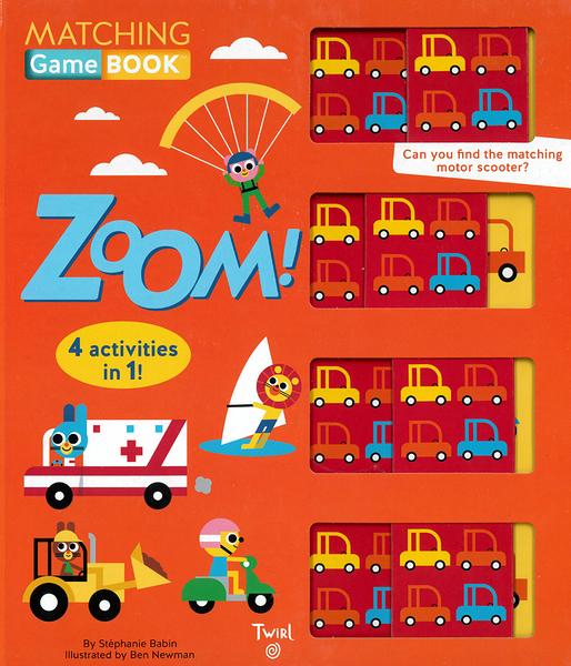 【麥克書店】MATCHING GAME BOOK: ZOOM/硬頁操作書《記憶遊戲書/交通工具》