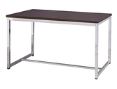 761-2 杜邦洽談餐桌 (鐵刀木/電金) W120×D60×H74公分