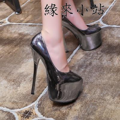 夜店高跟鞋16cm恨天高淺口單鞋