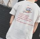 FINDSENSE MD 韓國 潮 男 時尚 休閒 後背BOOM字母印花 短袖T