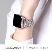 蘋果手錶替換錶帶iwatch錶帶金屬鑲鉆時尚錶帶【英賽德3C數碼館】