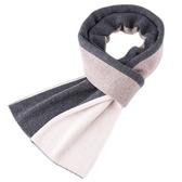 羊毛圍巾-加厚拼色色塊針織男披肩4色73wh42【時尚巴黎】