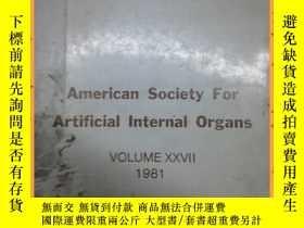 二手書博民逛書店英文書罕見american society for artificial internal organs 美國人工