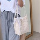 夏天大包包新款潮網紅時尚側背腋下包大容量女包百搭草編織包 智慧 618狂歡
