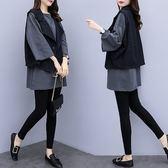 中長款上衣短款馬夾外套XL-5XL中大尺碼27653大碼女裝胖妹妹洋氣套裝馬甲T恤時尚兩件套愛尚布衣