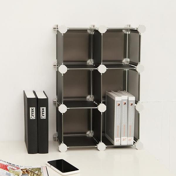多變迷你6格桌上收納櫃【誠田物集】置物櫃 小物收納 邊櫃 櫃子 收納盒 文件櫃 整箱箱 HP60