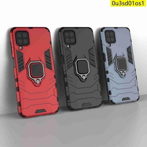 鋼鐵人三星M12手機殼三星m12保護殼Samsung Galaxy M12手機殼 全包防摔 四角加厚 軟邊硬殼 指環支架