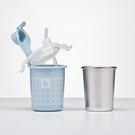 Kangovou 小袋鼠不銹鋼安全兒童兩用杯/喝水杯-野莓藍 【總代理公司貨】