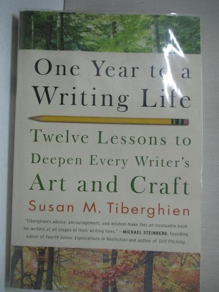【書寶二手書T1/字典_DAB】One Year to a Writing Life-Twelve Lesson..._Tiberghien