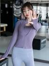 【Charm Beauty】2件套 運動 瑜伽服 上衣女 緊身 長袖 跑步套裝 訓練 速乾 外套 春夏季 健身運動服