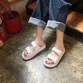 厚底學生拖鞋女夏季新款潮女鞋網紅百搭魔術貼露趾羅馬鞋 - 風尚3C