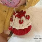 手工編織鉤針草莓蛋糕包包手織毛線針織diy材料包【時尚大衣櫥】