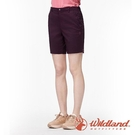 『VENUM旗艦店』【wildland 荒野】女 彈性抗UV五分短褲『黑莓』0A91381