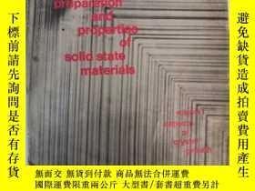 二手書博民逛書店preparation罕見and properties of s