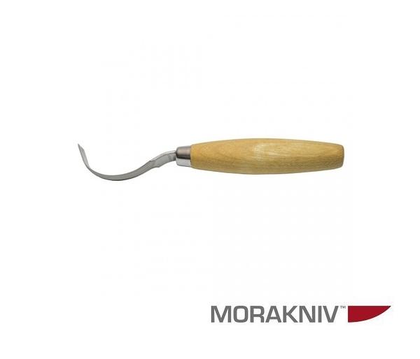 丹大戶外用品【MORAKNIV】瑞典 WOOD CARVING HOOK 163S 不鏽鋼彎勾木雕刀 原木色 12819