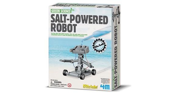 氯化鈉機器人 Green Science-Salt Water Power Robot 海水中鹽分的主要組成部分 居然能夠被用來驅動機器人