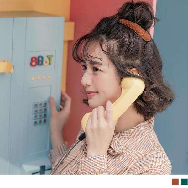 《ZC1674》臧芮軒。純色絨毛質感甜美髮夾 OrangeBear