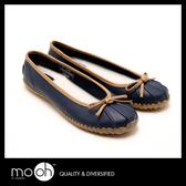 低筒雨鞋 蝴蝶結 大尺碼鞋 歐美時尚淺口平底短筒防滑雨鞋 mo.oh (歐美鞋款)