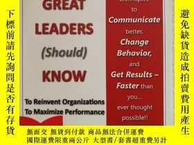 二手書博民逛書店16開英文原版罕見What great leaders (sho