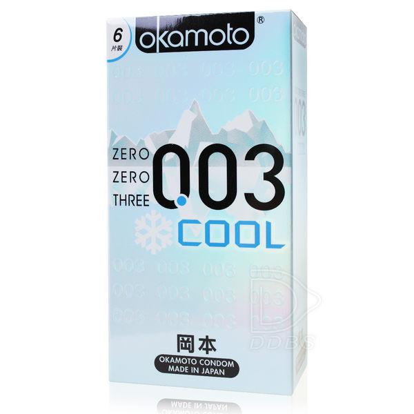 OKAMOTO 岡本OK 衛生套 003 保險套 COOL 冰炫極薄 6片裝【DDBS】