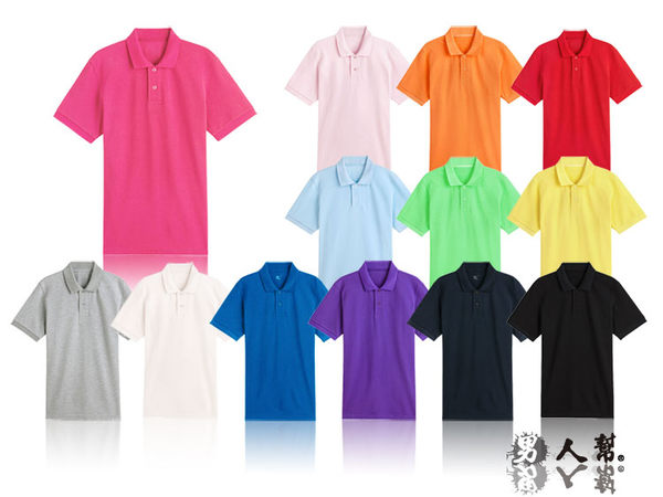 【男人幫】F0100*百搭基本款【情侶可穿/混搭短袖素面POLO衫】無口袋POLO衫
