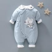 嬰兒薄棉連體衣秋冬款寶寶夾棉冬裝6個月新生兒網紅衣服純棉0-1歲 交換禮物